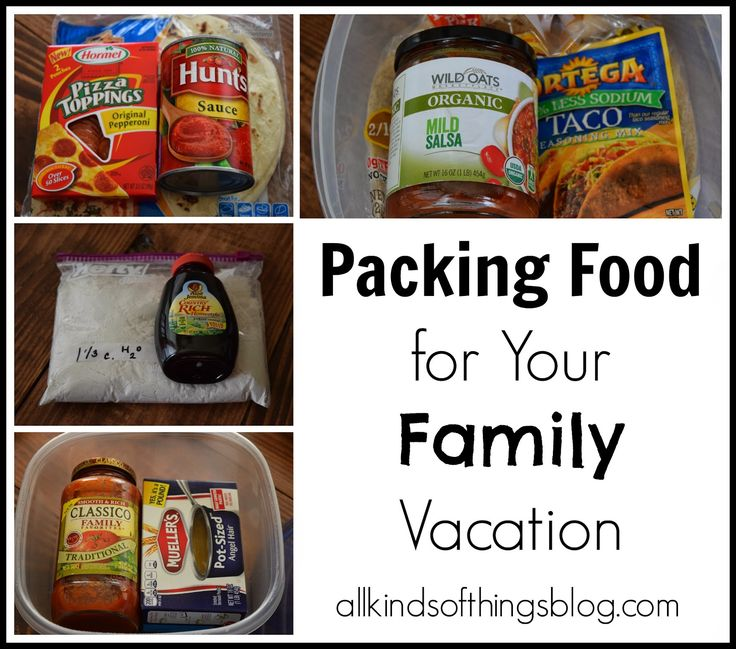Packing Food for a Family/Friend Vacation