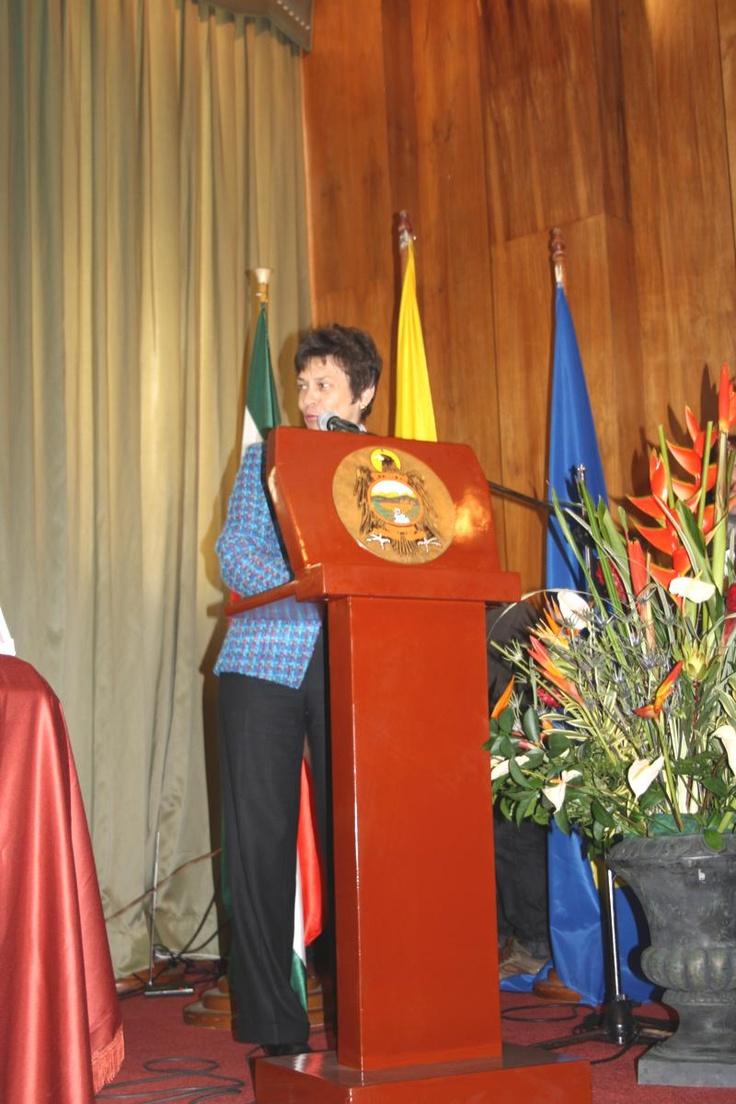 La Embajadora de la Unión Europea, María Antonia Van Gool, de visita en el departamento de Boyacá, manifestó su satisfacción al ver los resultados de las Alianzas de desarrollo económico local