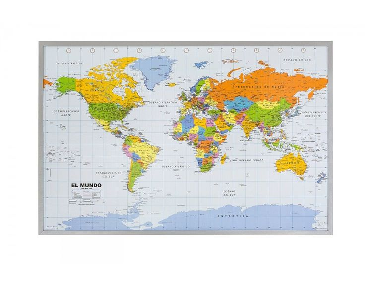 Mejores 214 imgenes de world map en pinterest mapas murales sale on spanish world map on cork pinboard with free shipping gumiabroncs Image collections