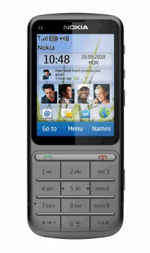 Nokia C3-01 Unlocked Touch and Type GSM Phone--U.S. Version with Warranty (Warm Gray) Unlocked quad-band GSM cell phone compatible with 850/900/1800/1900 frequencies and. 3G-enabled mobile phone in warm gray with 2.4-inch touchscreen and. 5-megapixel camera/camcorder; Wi-Fi networking;. Up to 4 hours of 3G talk time, up to 440 hours (18+ days) of standby time; released in November, 2010. What's in... #Nokia #Wireless