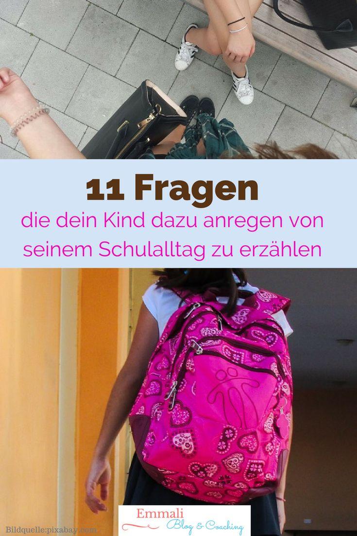 Mit diesen 11 Fragen erzählt dir dein Kind gerne über seinen Schultag... mehr dazu hier... Erziehungstipps, Erziehung, Kinder, Familienleben, Schule