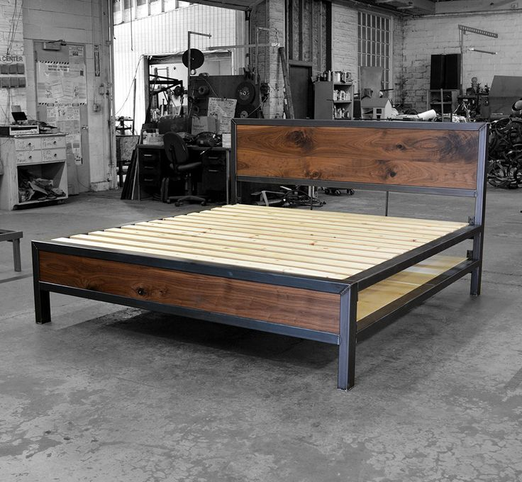 $1900 This is the same style of bed as the Early Century Bed listing: https://www.etsy.com/listing/128743819/the-early-century-bed-king-size?ref=shop_home_active_25 This version is made with the larger 2x3 Kraftig Tube. You can have it with 1x2 silver tube as you see in the link The dimensions for your storage can be customized. In this example the support for the mattress is supplied by 14 4 pine slats. You may request the 1/2 birch plywood that you see for the storage below.
