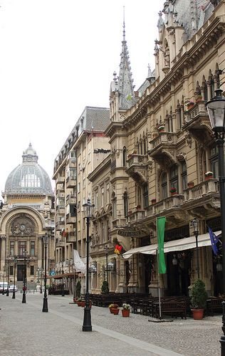 Exterior of Caru cu Bere ~ Bucharest, Romania