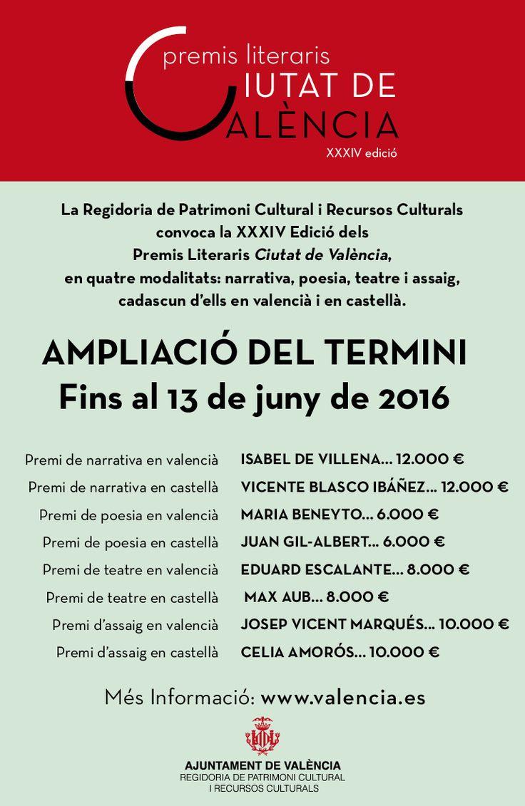 XXXIV Edición de los Premios Literarios Ciutat de València