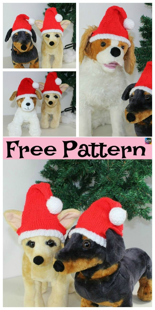Knit Dog Santa Hat Free Patternt Crochet Knit Patterns