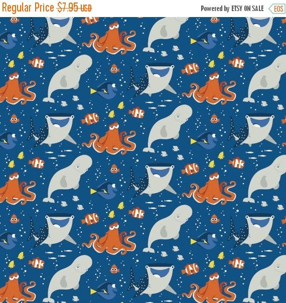 CLEARANCE Disney Finding Dory Fabric Nemo by TheCalicoCatFabrics