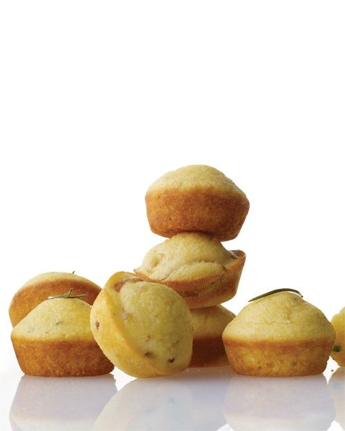 One batch of batter is divided into three bowls to stir in three irresistible ingredient combinations: Orange-Rosemary, Jalapeno-Cheddar, and Caramelized Onion-Bacon. These mini muffins are perfect appetizers for serving at a buffet or a barbecue.