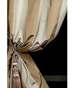 Signature Stripe Taffeta Curtain Panel (50 in. x...