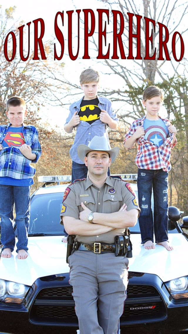 Our superhero  Texas highway patrol