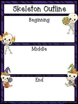 Use this story frame with your favorite skeleton themed book such as:Skeleton HiccupsSkeleton Meets the Mummy, orSkeleton for DinnerHappy Halloween!