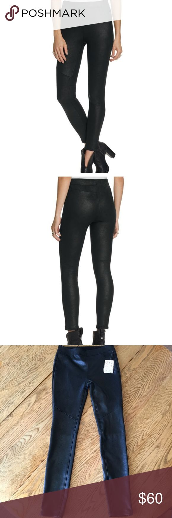 Free People Never Let You Go Vegan Leather Legging Free People Never Let You Go Vegan Leggings.  Material feels and looks like a soft faux leather/suede.  NWT Free People Pants Leggings