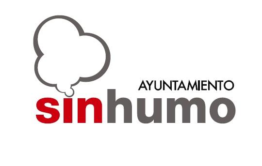 """Logotipo del programa """"Ayuntamiento sin humo"""" del Ayuntamiento de Zaragoza."""
