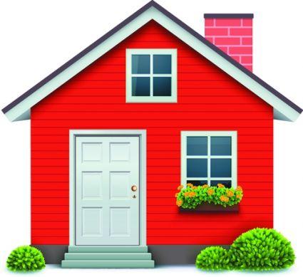different houses design elements vector