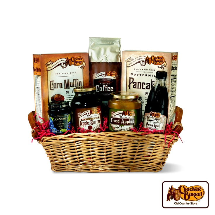 Send some country goodness to a friend or family member with our pre-packaged breakfast gift basket.    Answer fun questions and you could win in the Cracker Barrel Old Country Store Pick it to Win it Sweepstakes. Start 'picking' your answers at crackerbarrel.com/win (ends Jan 2, 2013).
