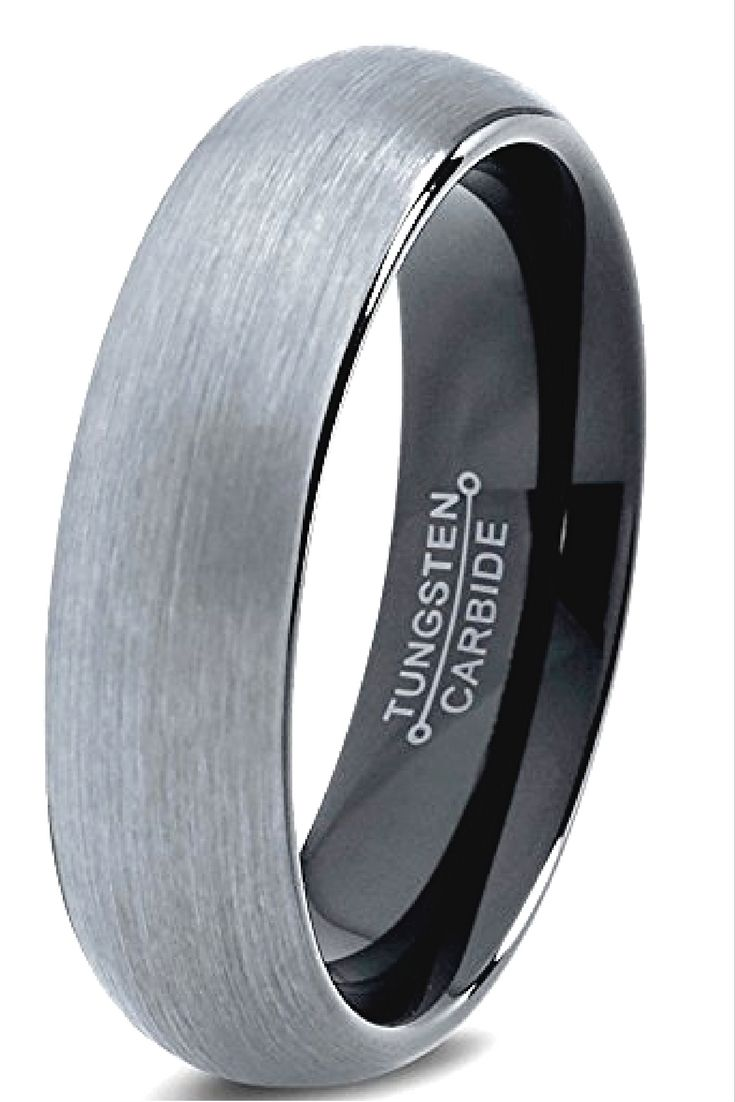 One of my favorite mens wedding bands crafted out of tungsten carbide. Amazing…