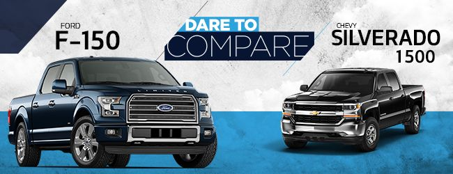 Explore the similarities and differences between the 2017 Ford F-150 and the 2017 Chevrolet Silverado! May the best pickup truck win!