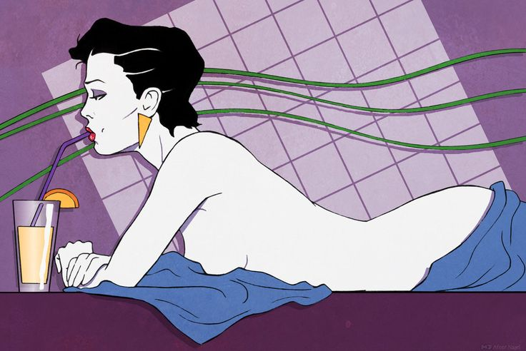 Patrick Nagel 80s Fashion Illustration