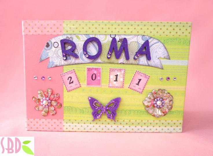 Sweet Bio design: Mini Album ROMA completo con pagine interne - Rome...