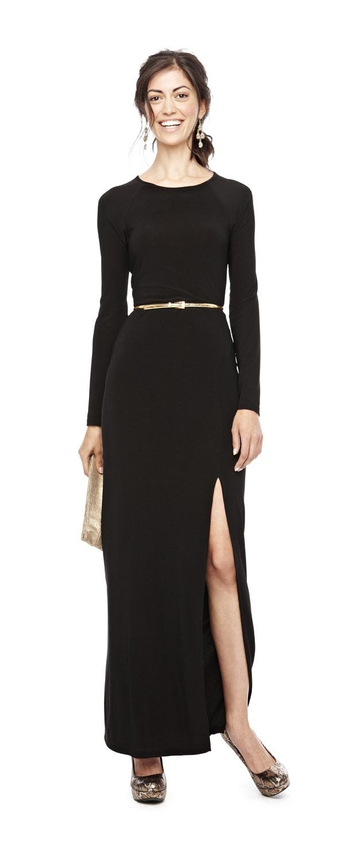 Black dress jcpenney - A Leg Up Bisou Bisou By Michele Bohbot Long Sleeve Maxi Dress