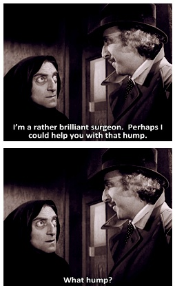 """Marty Feldman and Gene Wilder in """"Young Frankenstein.""""  (1974) one of the funniest movies"""