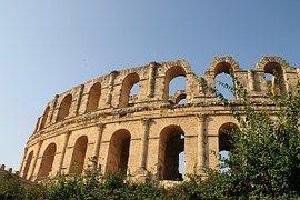 Túnez, Anfiteatro, Antigua, Arquitectura