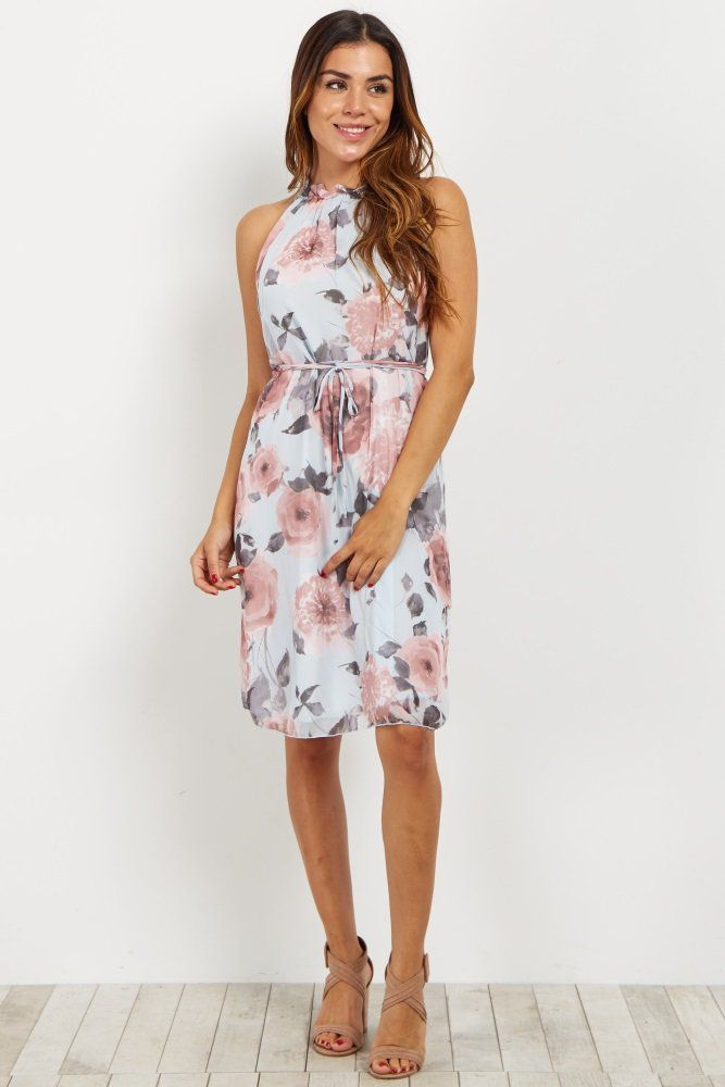 Feminine florals and a flattering silhouette, this dress is the perfect springtime/summer essential. Style this dress with nude heels and a clutch for a cute date night look.
