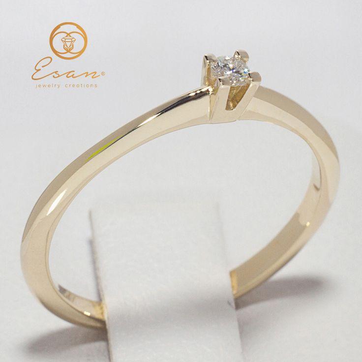 Inel de logodna solitaire cu diamant ES13