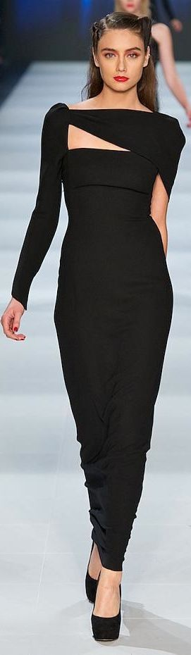 Carla Zampatti ~ Evening Gown, Black