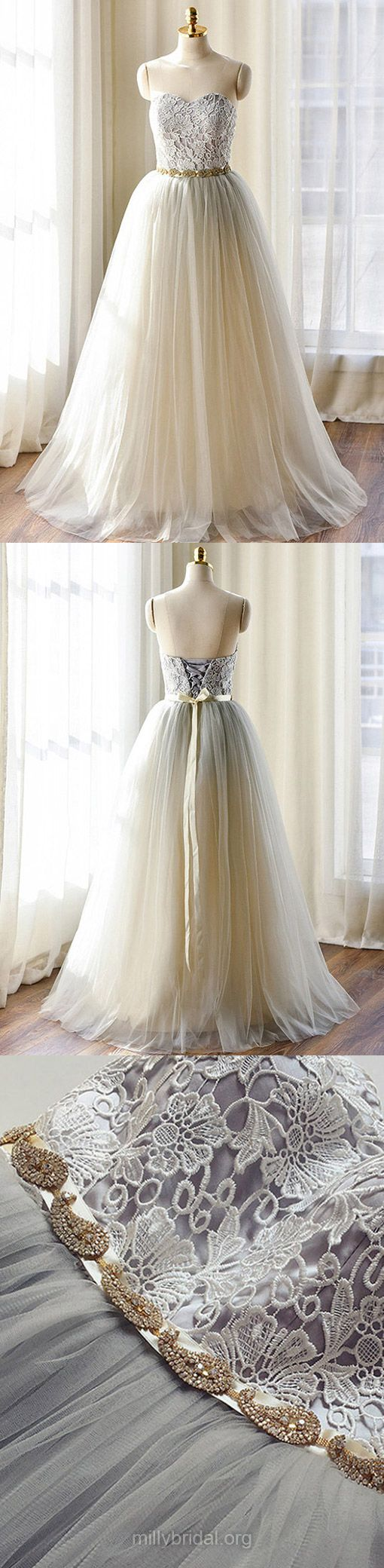Sweetheart Wedding Dresses Modest, Tulle Bridal Gowns Affordable, 2018 Wedding Dress Unique