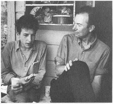 Bob Dylan and Pete Seeger