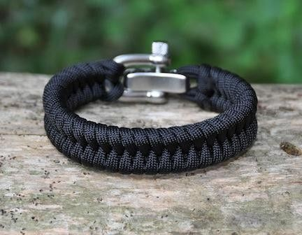 Men should never wear a bracelet but this is a survival tool and very cool for hikes and camping. Regular Survival Bracelet™ - Fish Tail