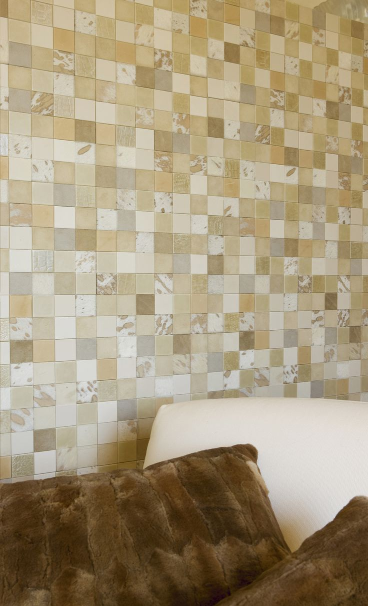 Studioart Leather wall collection! Cream everywhere! Leather tiles for your unique design! #leather #design #architecture #leathewall