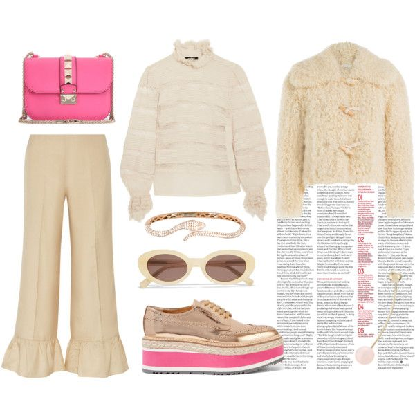 Nude x Hot pink by nadial on Polyvore featuring mode, Isabel Marant, Philosophy…