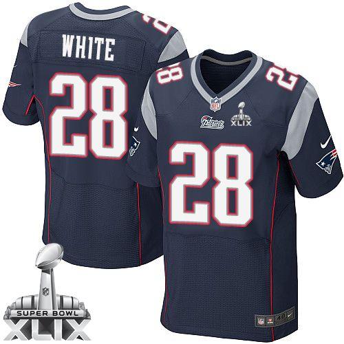 ... jerseys Pinterest NFL New England Patriots James White Mens Elite Home  Navy Blue 28 Super Bowl XLIX Men Nike ... 671c01b68