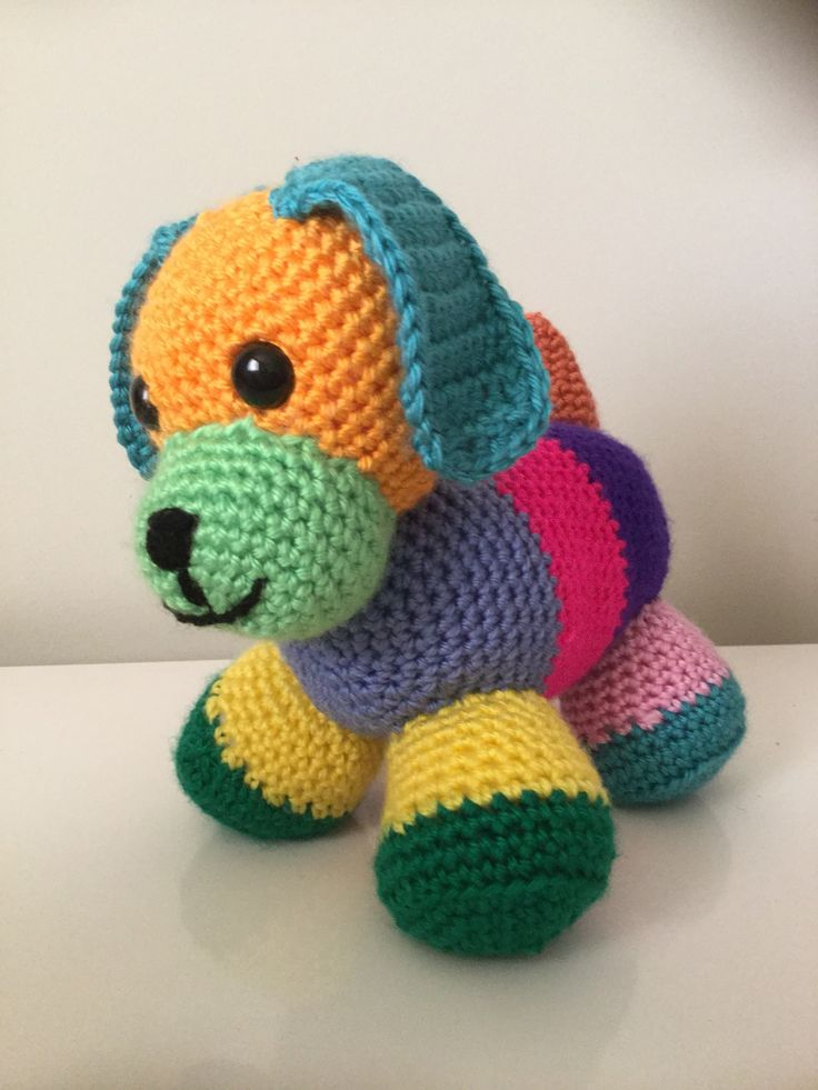 Patchwork Doggie my creations - Nannyv's Crochet Creations