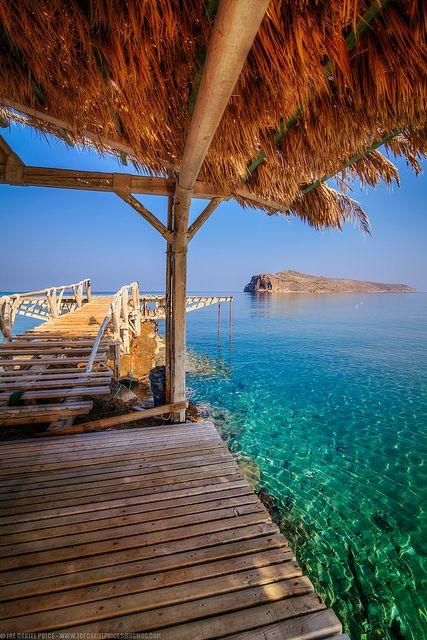 The Jetty at Agios Marina near Platanias, Chania, Crete, Greece
