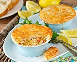 Seafood Pies with PHILLY Recipe   PHILADELPHIA
