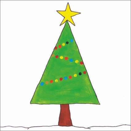 Świąteczna seria kartek z rysunkami autorstwa osób z niepełnosprawnością #kartka #handmade #christmas