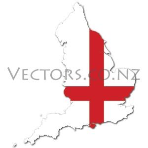 Flag Vector Map of England