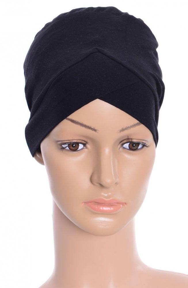 Turban Abaya Niqab Binde Bonnet Hijab Pashmina Cap Islam Tessetür Schwarz  Baumw.