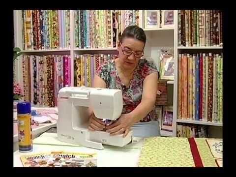 Arte e Manhas da Tia Lili: quiltar uma colcha em uma máquina de costura doméstica - YouTube