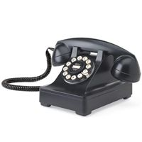 Retro 302 Desk Phone by Wild and Wolf   Cream / Black / Red