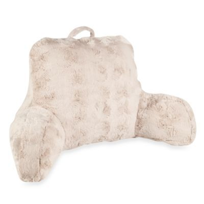 Crystal Fur Backrest in Taupe - BedBathandBeyond.com Omg i would be the happiest girl alive!!!!