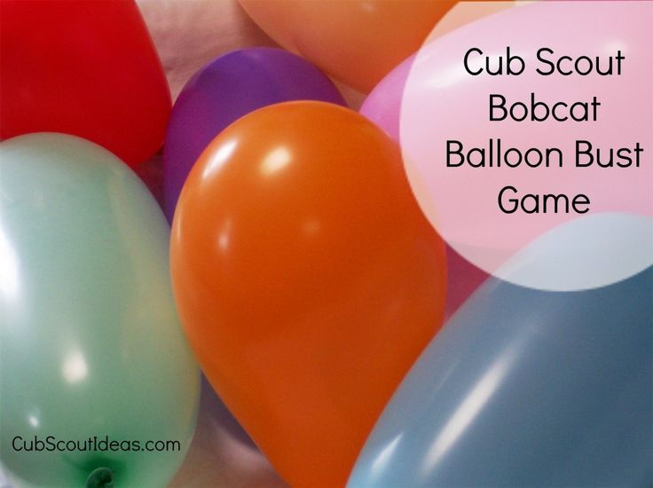 Cub Scout Bobcat Requirements: Balloon Bust Game - Cub Scout Ideas
