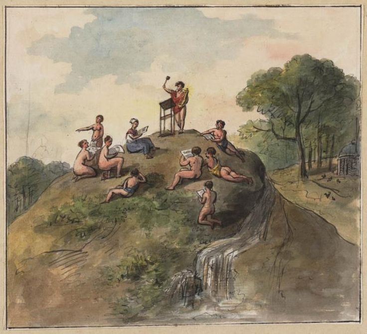 #music Apollo onderwijst de zang godinnen by artist Gerrit Jan Michaëlis (1775-1857)