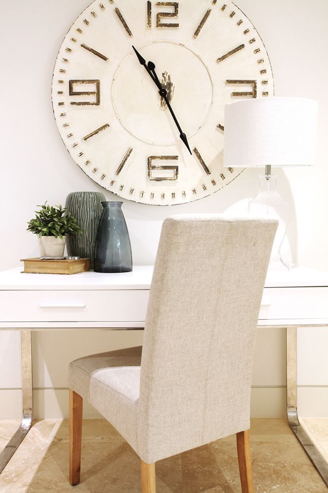 Absolutely adore this clock in this beautiful coastal study!
