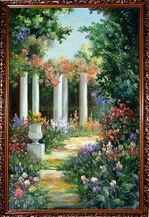 Подарки и сувениры: Цветущий сад - Средиземноморье <- Картины маслом <...