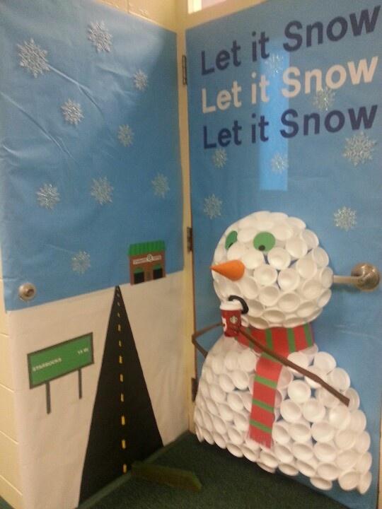 My holiday door for my art room. | Art Room--Door/Bullentin | Pinterest | Holidays and Christmas ...