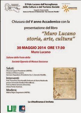 Unitre di Muro Lucano: 30 maggio 2014 ore 17.30 salone delle Feste delle ...