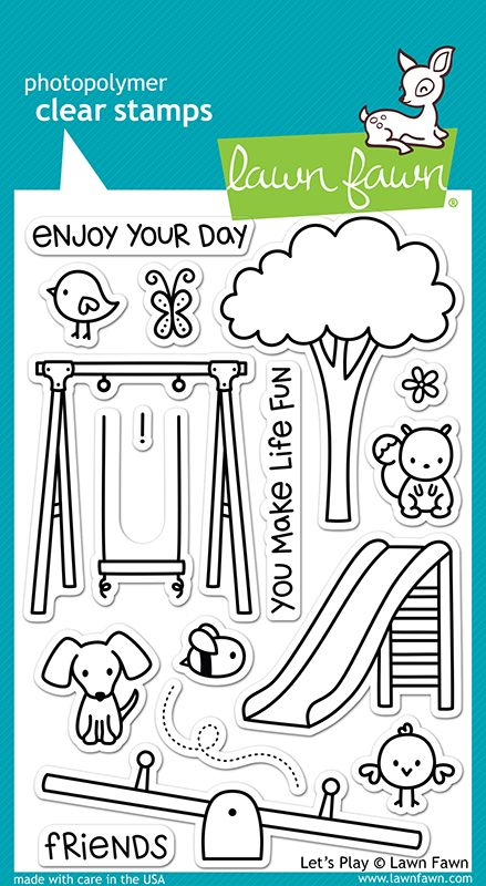 Lawn Fawn - Clear Acrylic Stamps - Let's Play at Scrapbook.com